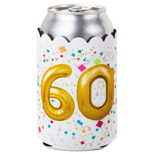 60th Birthday Balloons Can Cooler