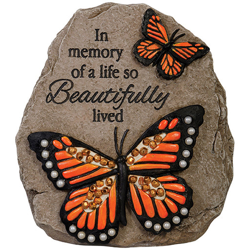 """In Memory"" Beadworks Memorial Message Stone"