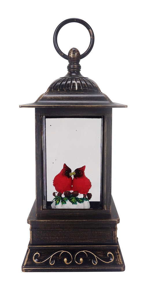 Cardinal Friends LED Glitter Lantern
