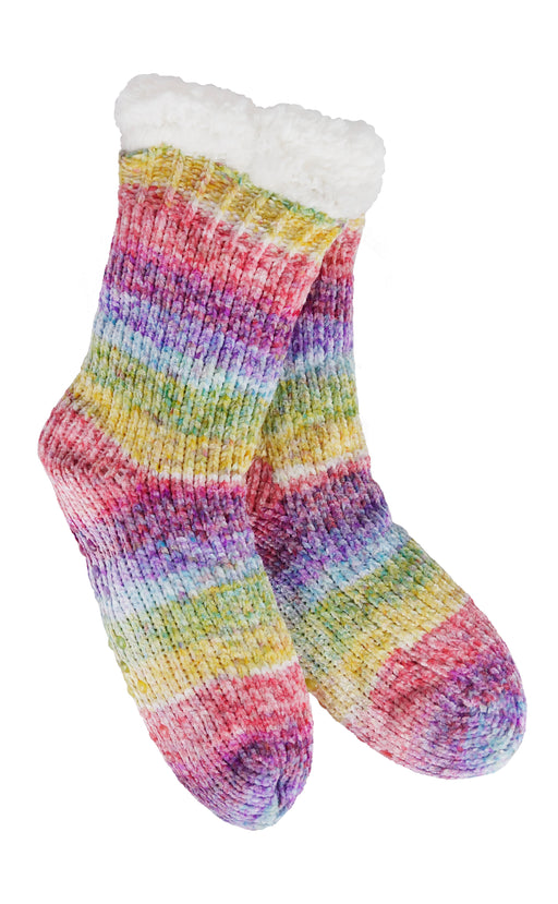 Recycled Yarn Ombre Thermal Slipper Socks