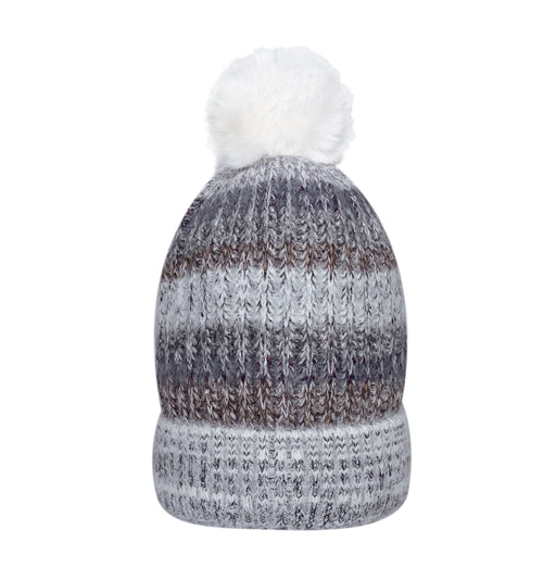 Wool Blend Giving Beanie with Sherpa & Pom-Pom