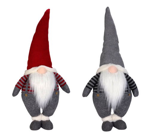 "27.5"" Standing Christmas Gnome with Light Up Nose"