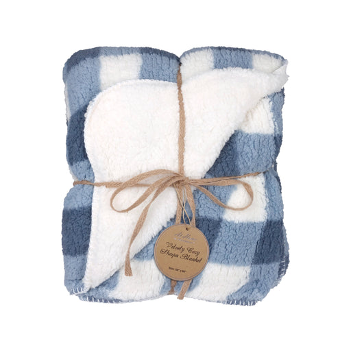 Checkered Plaid Sherpa Giving Blanket