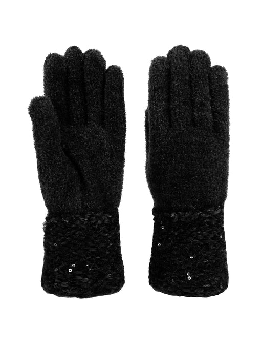 Chenille Sparkle Cuff Gloves