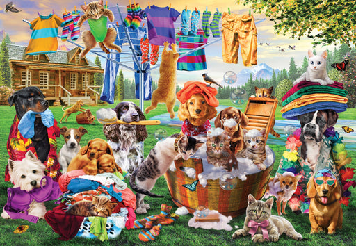 Laundry Day Rascals 1000 Piece Jigsaw Puzzle