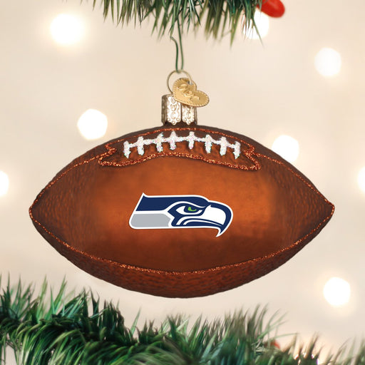 Seattle Seahawks Football Ornament