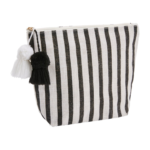 Black & White Stripe Jute Case