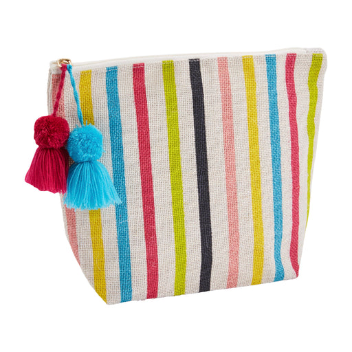 Multi Stripe Jute Case