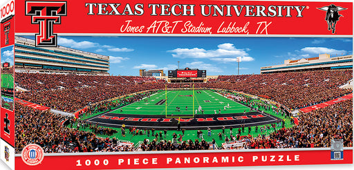 Texas Tech 1000 Piece Panoramic Jigsaw Puzzle