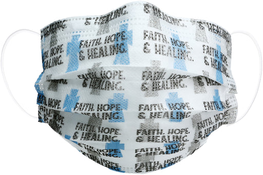Faith, Hope & Healing Disposable Face Mask 7 pack