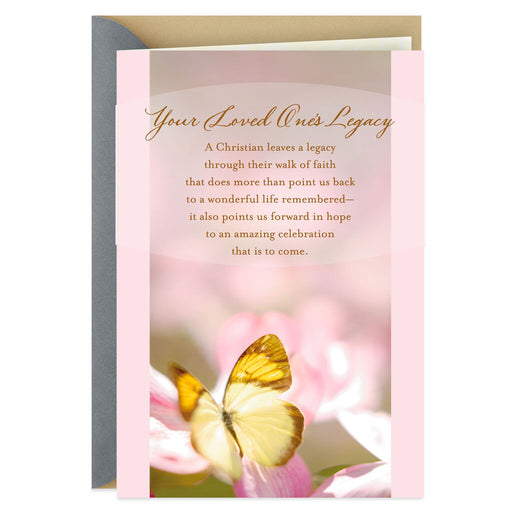 A Loved One's Legacy Religious Sympathy Card