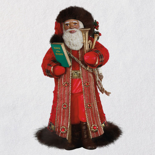 African-American Father Christmas Ornament - 17th in the Series