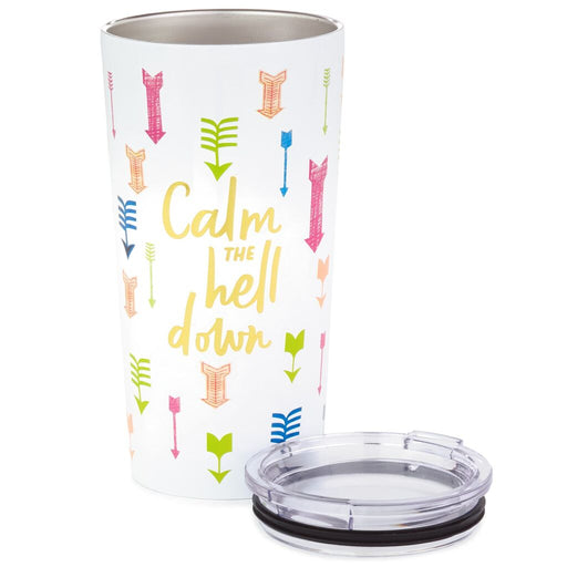 Calm the Hell Down Stainless Steel Tumbler