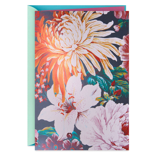 Assorted Flowers Blank Thinking of You Card