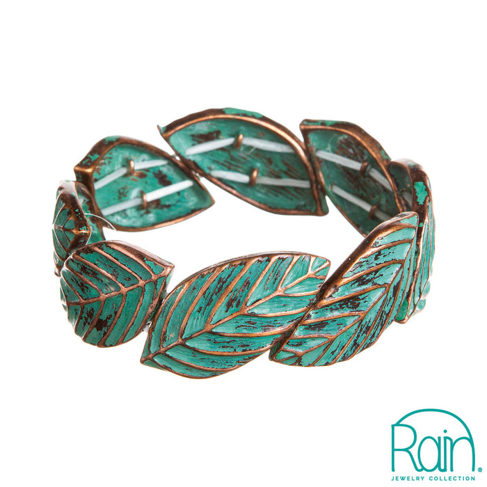 Copper Patina Leaves Bracelet