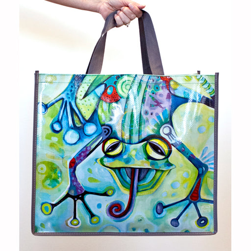 Smiling Frog Shopper Bag