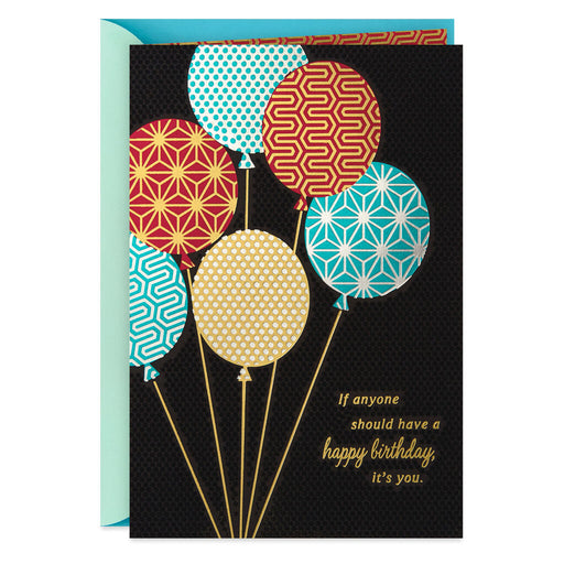 Designer Balloons Birthday Card
