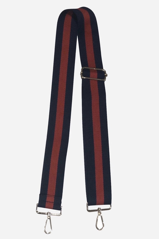 "ahdorned 2"" Navy and Red Stripe Bag Strap"