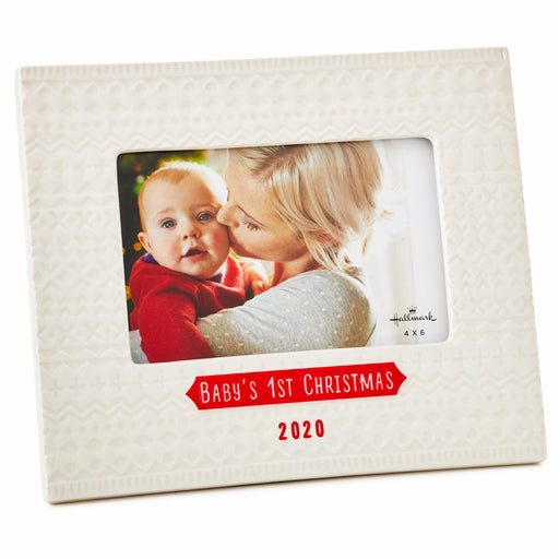 Baby's First Christmas 2020 Picture Frame