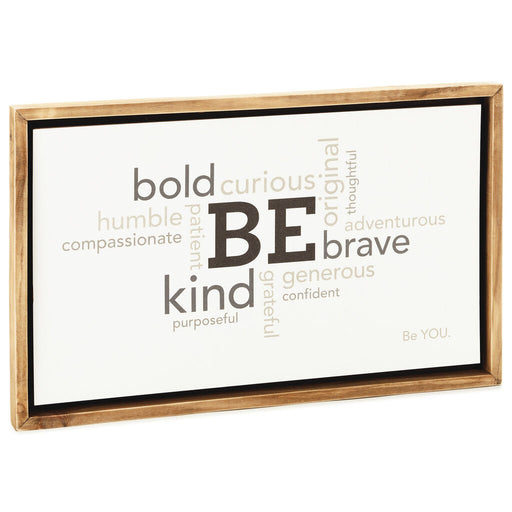 Be You Word Art Framed Sign