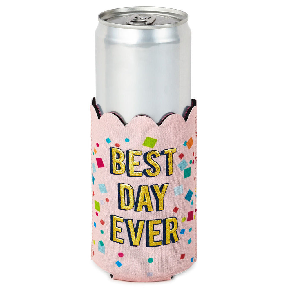 Best Day Ever Confetti Slim Can Cooler