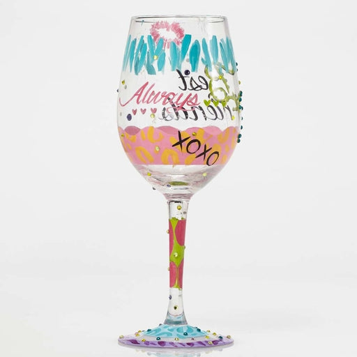 Best Friends Always Lolita Wine Glass