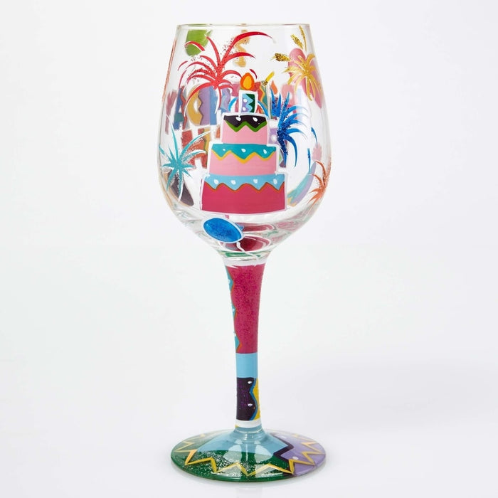 Birthday Bash Lolita Wine Glass