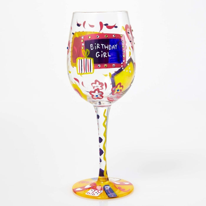 Birthday Girl Lolita Wine Glass