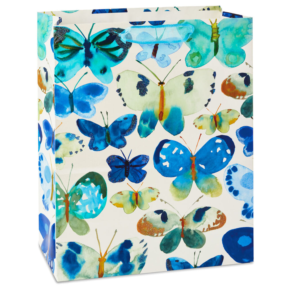 Blue Butterflies Large Gift Bag