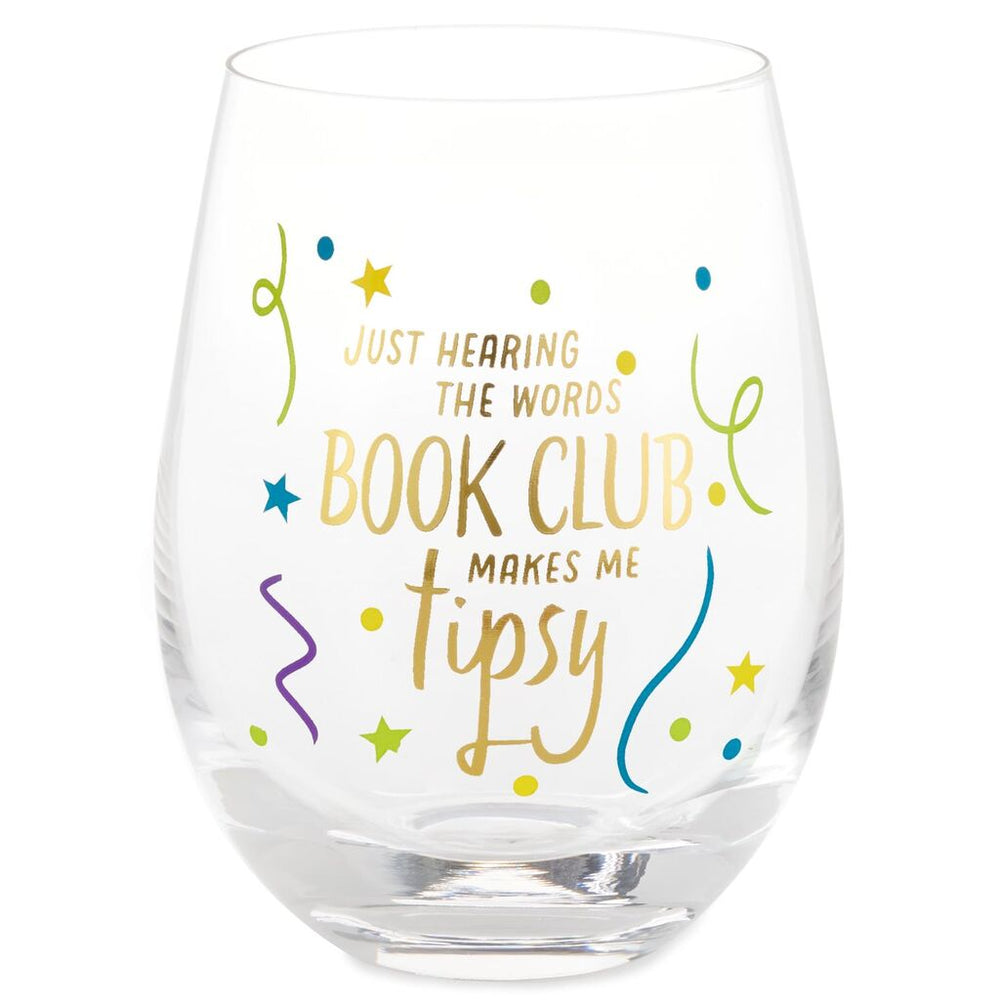Book Club Stemless Wine Glass
