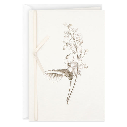 Botanical Drawing Blank Thinking of You Card