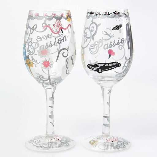 Bride and Groom Lolita Wine Glass Set