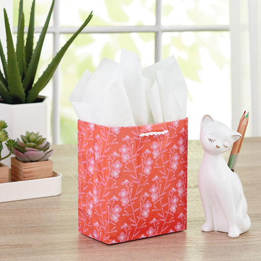 Bright Floral Gift Bag With Tissue