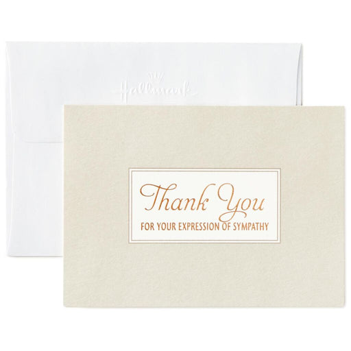 Bronze Script Sympathy Thank You Notes