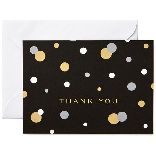 Bubbles on Black and Ivory Thank You Notes