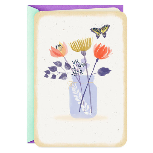 Butterfly and Flower Jar Blank Card