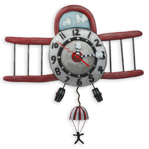 Airplane Jumper Clock