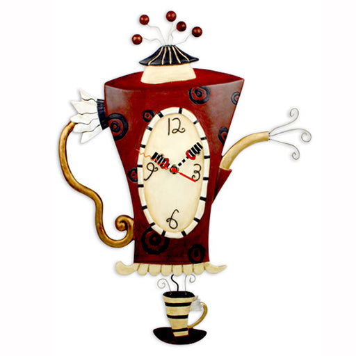Steamin' Tea Coffeepot Clock