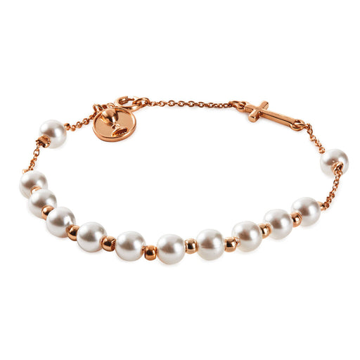 Child's Gold and Pearl Rosary Bracelet