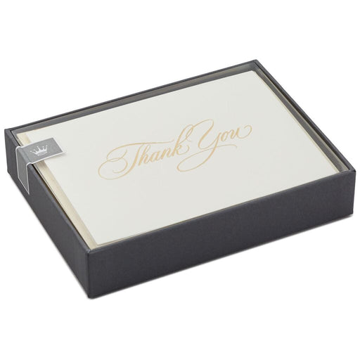 Classic Ivory and Gold Thank You Notes