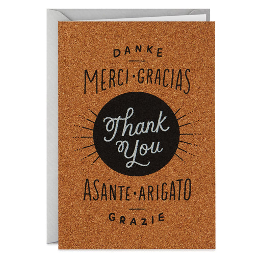 A World of Thanks Thank You Card