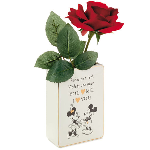 Mickey and Minnie Love Ceramic Flower Vase