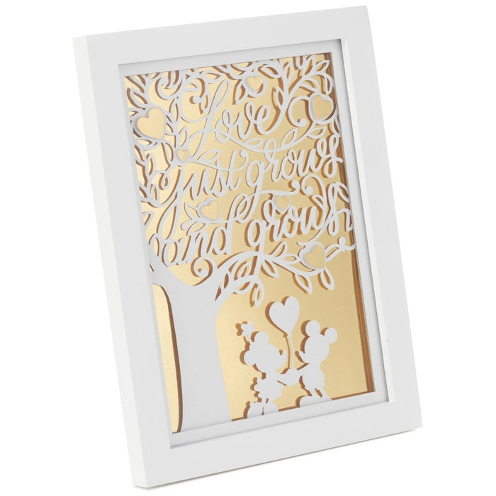 Love Grows Mickey and Minnie Framed Art
