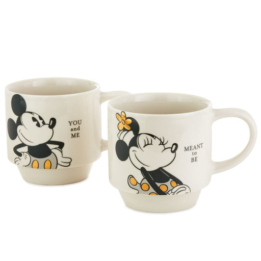 You and Me Mickey and Minnie Stacking Mugs