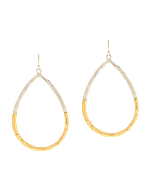 Two Tone Teardrop Earring