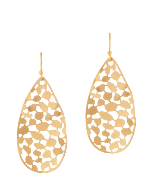 Gold Leaf Wavy Earrings