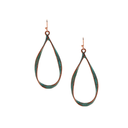 Patina Ribbon Wire Earrings