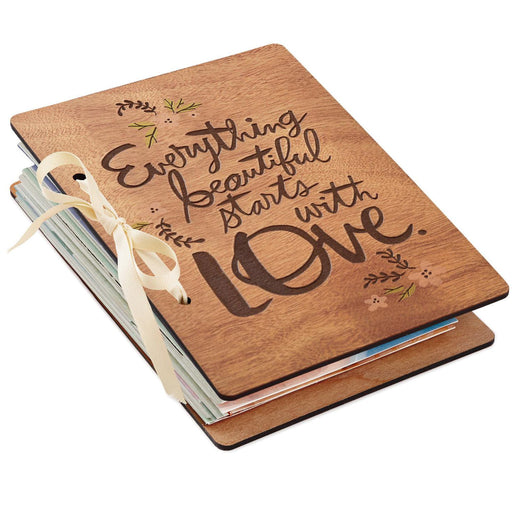 Everything Beautiful Starts With Love Wedding Card Keeper