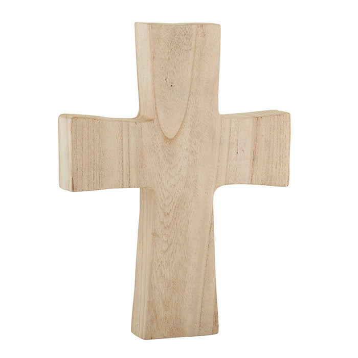 Large Natural Wood Standing Cross