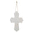 Medium White Wood Wall Cross